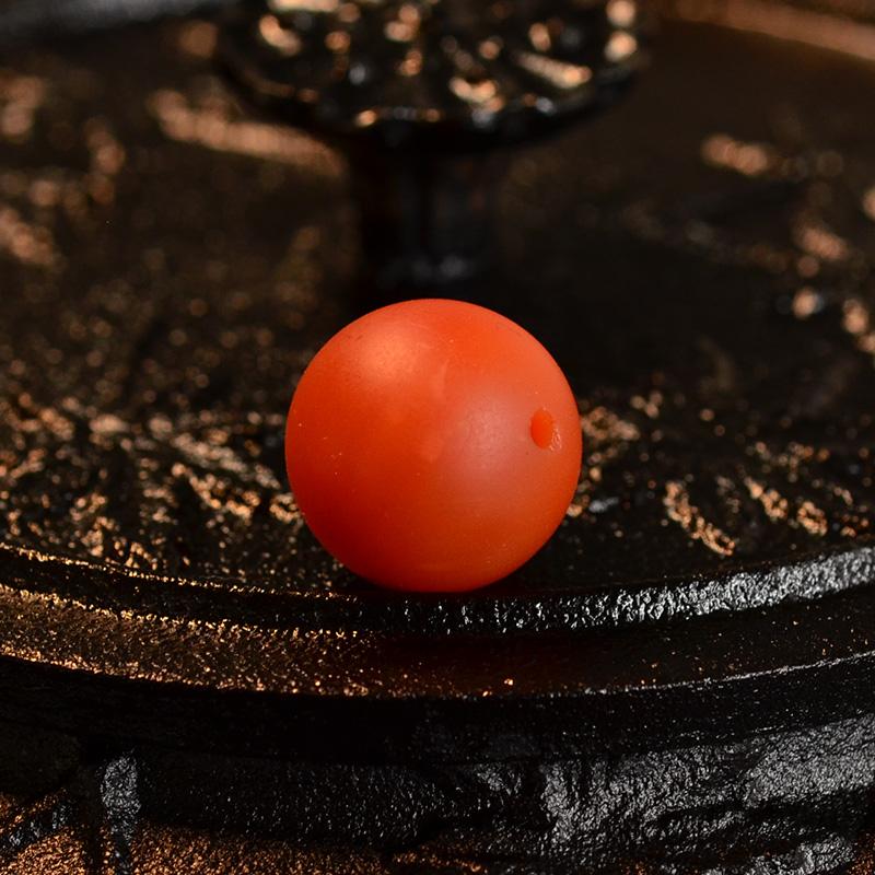 鸿木斋 天然保山南红顶珠 满色满肉柿子红N3521 (4) .JPG