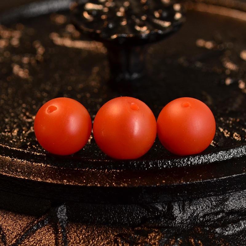 鸿木斋 天然保山南红顶珠腰珠 满色满肉柿子红N3523 (4) .JPG