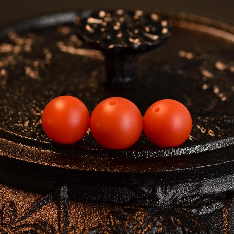 鸿木斋 天然保山南红顶珠腰珠 满色满肉柿子红N3523 (2) .JPG