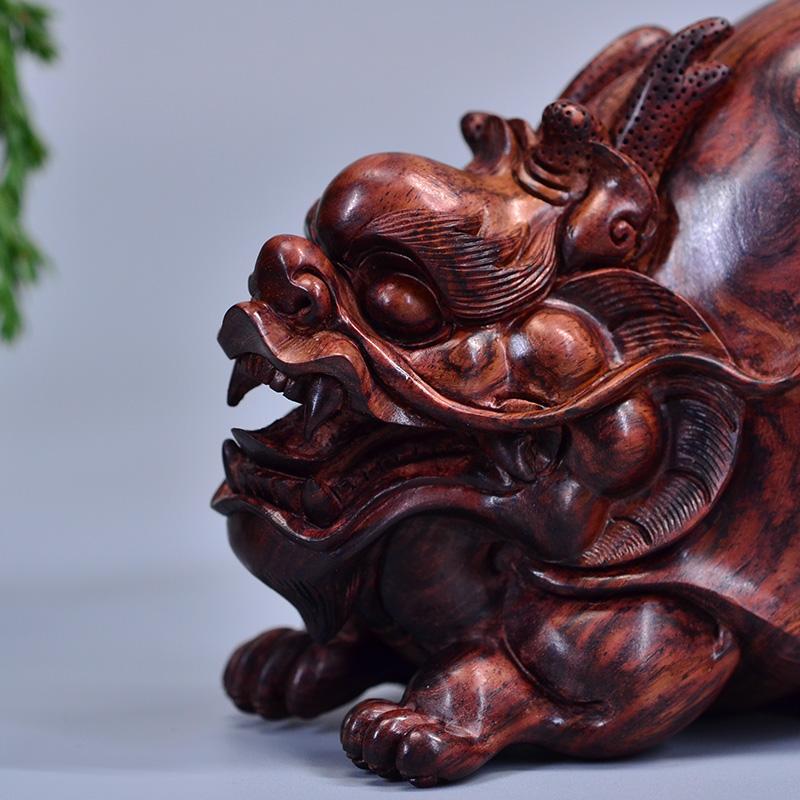 小叶紫檀珠串 鸿款雕刻 等 03 鸿木斋 黄花梨大把件鸿款雕刻3寸龙龟
