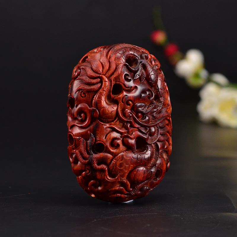 鸿木斋 紫檀雕刻 小叶紫檀雕刻2寸半镂空双龙Z1523 (6) .JPG
