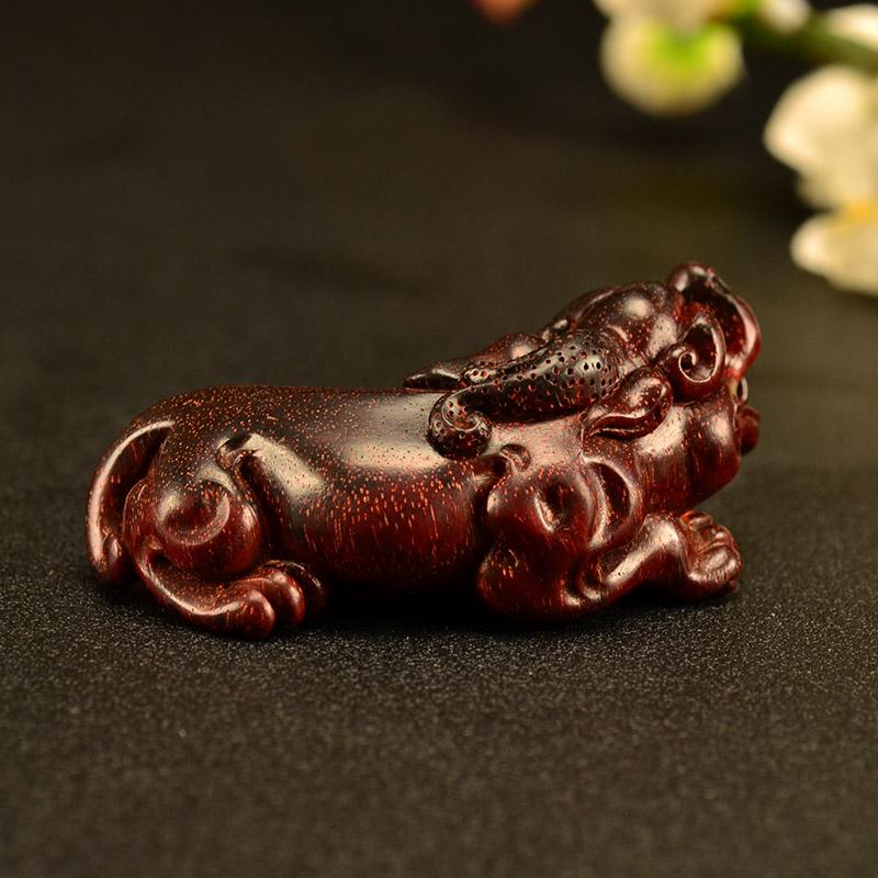 鸿木斋小叶紫檀手把件鸿款雕刻2寸貔貅 Z1532 (5).JPG