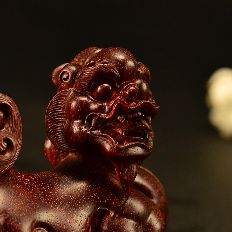 鸿木斋 小叶紫檀手把件 鸿款雕刻2寸貔貅Z1536 (5) .JPG