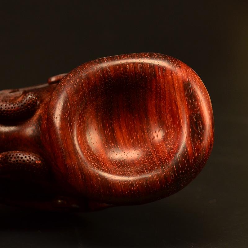 鸿木斋 小叶紫檀把件鸿款雕刻龙头尊高密度雕件孤品Z1552 (5).JPG