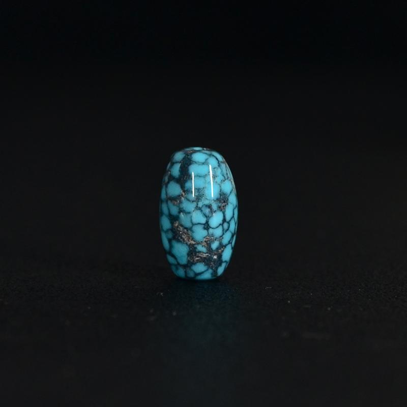 鸿木斋 松石顶珠 天然绿松石 蓝绿 云盖寺S1007 (2) .JPG