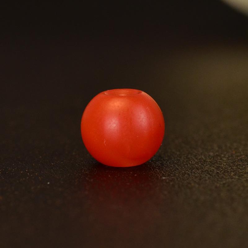 鸿木斋 保山南红顶珠 天然柿子红苹果珠N3563 (2).JPG