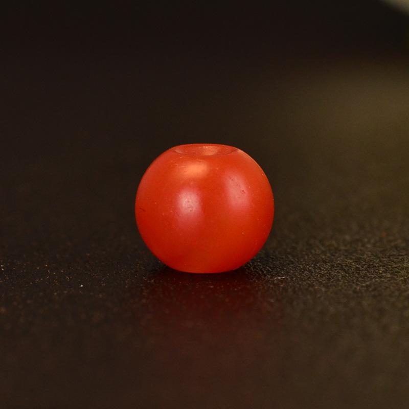 鸿木斋 保山南红顶珠 天然柿子红苹果珠N3563 (5).JPG