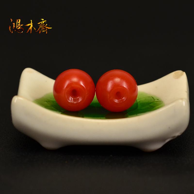 鸿木斋 然南红散珠 山南红柿子红 红腰珠孤品N3599 (4).JPG