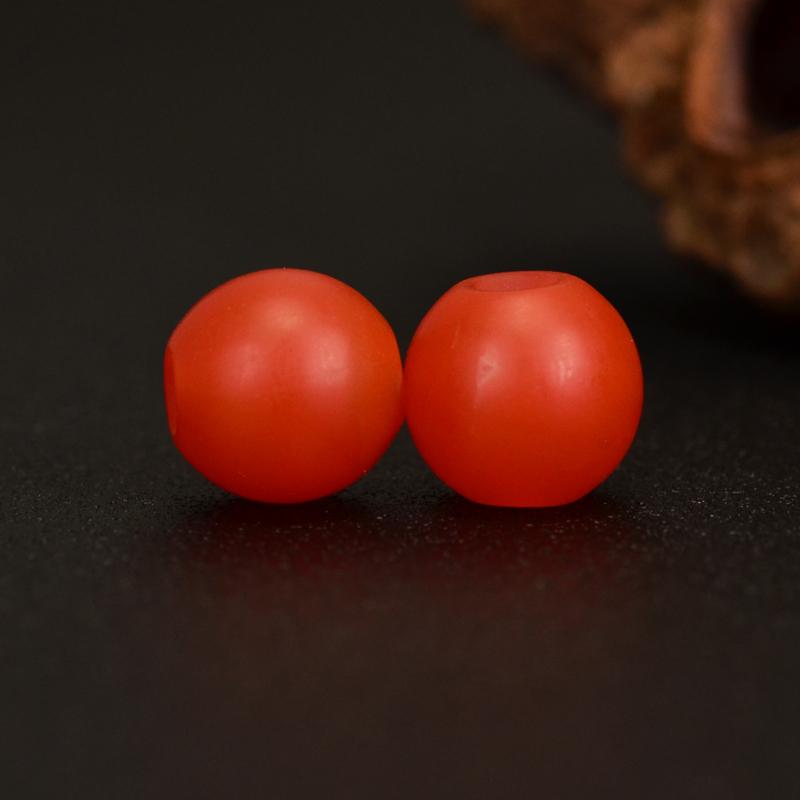 鸿木斋 南红玛瑙散珠 天然保山南红柿子红 南红腰珠 孤品N3613 (3).JPG