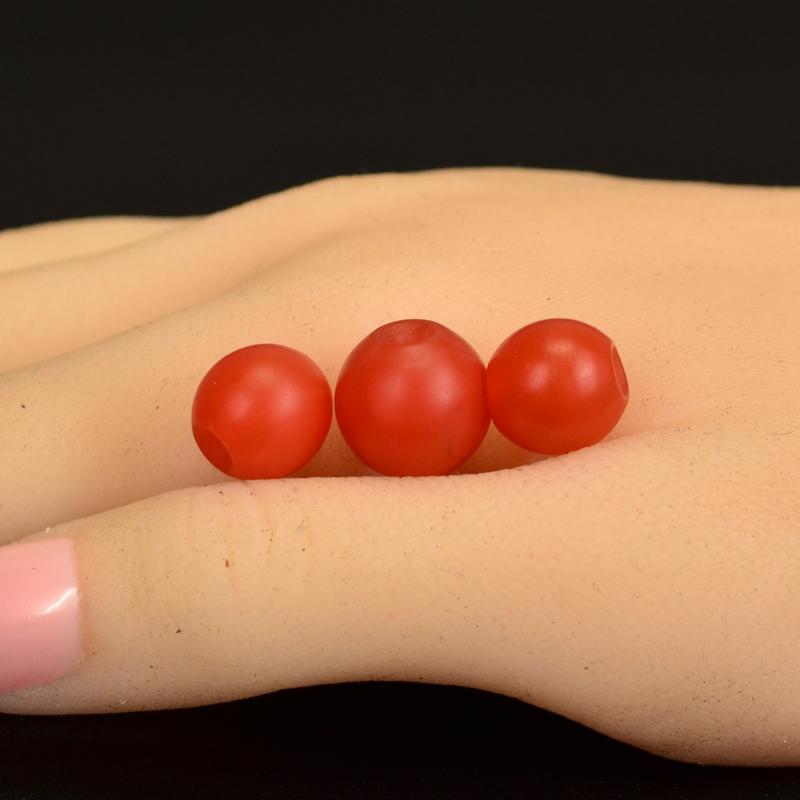 鸿木斋 天然保山南红散珠 柿子红 南红顶珠腰珠 孤品N3615 (6).JPG