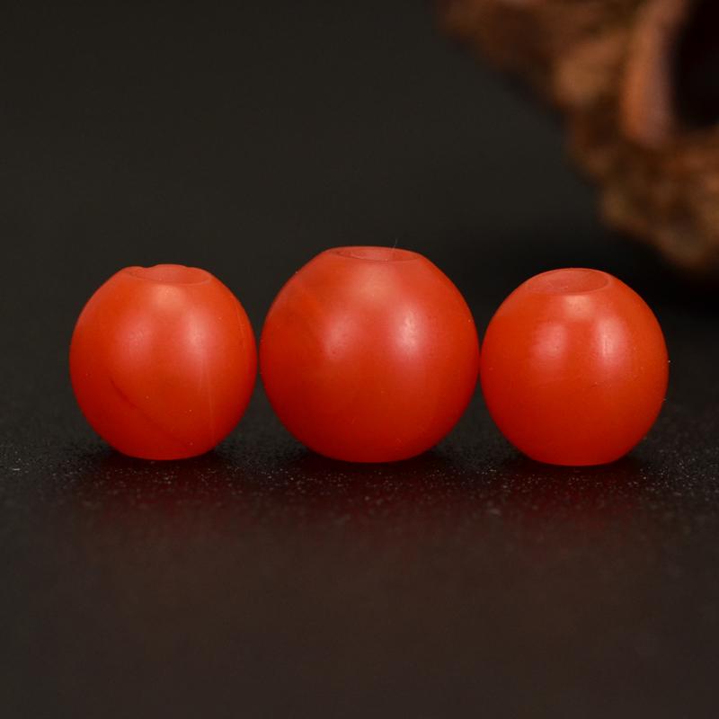 鸿木斋 天然保山南红散珠 柿子红 南红顶珠腰珠 孤品N3615 (3).JPG