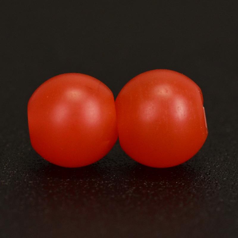 鸿木斋 天然保山南红 柿子红 南红玛瑙腰珠 孤品N3621 (5).JPG