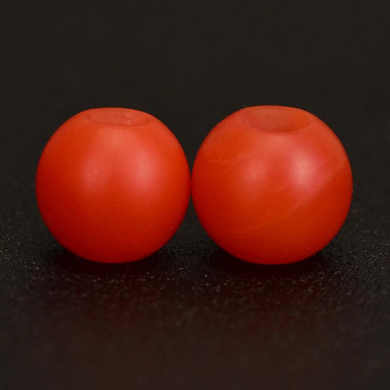 鸿木斋 天然保山南红 柿子红 南红玛瑙腰珠 孤品N3622 (3).JPG