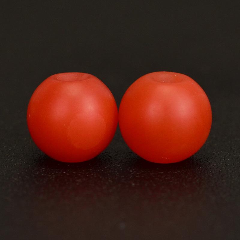 鸿木斋 天然保山南红 柿子红 南红玛瑙腰珠 孤品N3626 (3).JPG