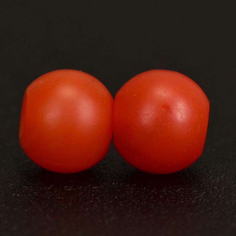 鸿木斋 天然保山南红 柿子红 南红玛瑙腰珠 孤品N3623 (5).JPG
