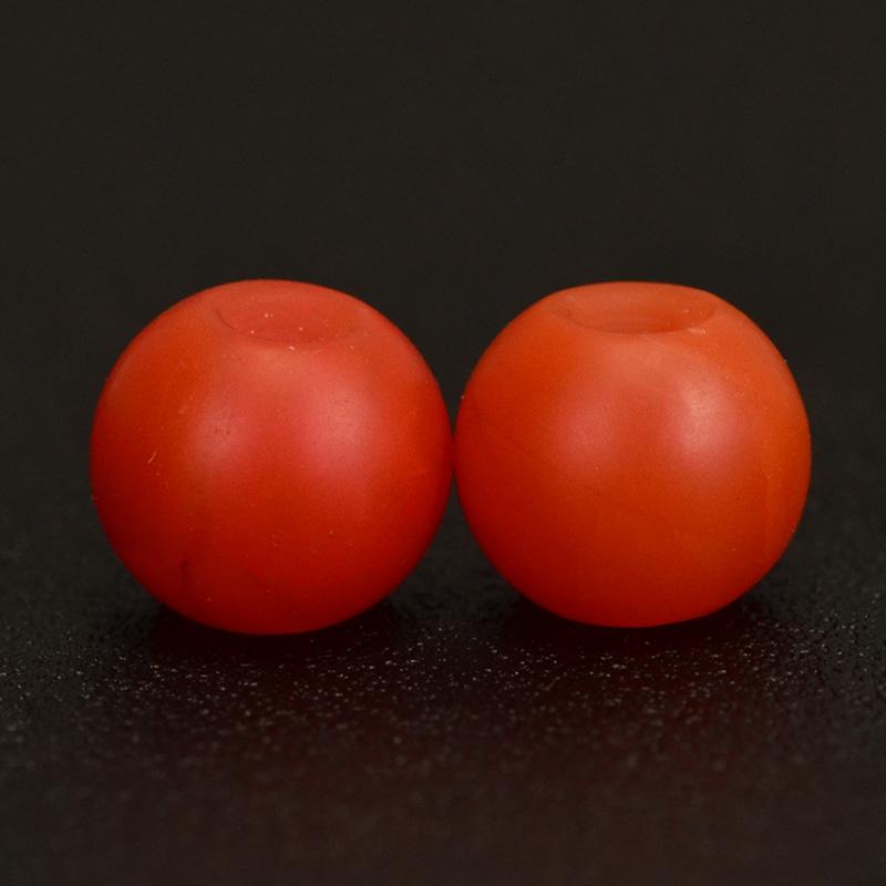 鸿木斋 天然保山南红 柿子红 南红玛瑙腰珠 孤品N3623 (3).JPG