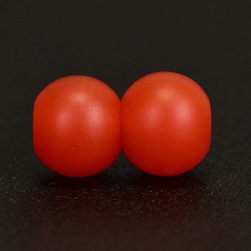 鸿木斋 天然保山南红 柿子红 南红玛瑙腰珠 孤品N3625 (5).JPG