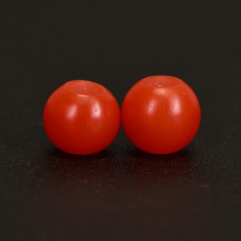 鸿木斋 保山南红散珠 天然柿子红 南红腰珠 孤品N3633 (2).JPG