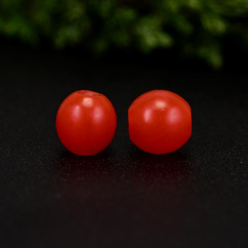 鸿木斋 南红腰珠 天然保山南红柿子红 南红散珠 孤品N3638 (2).JPG