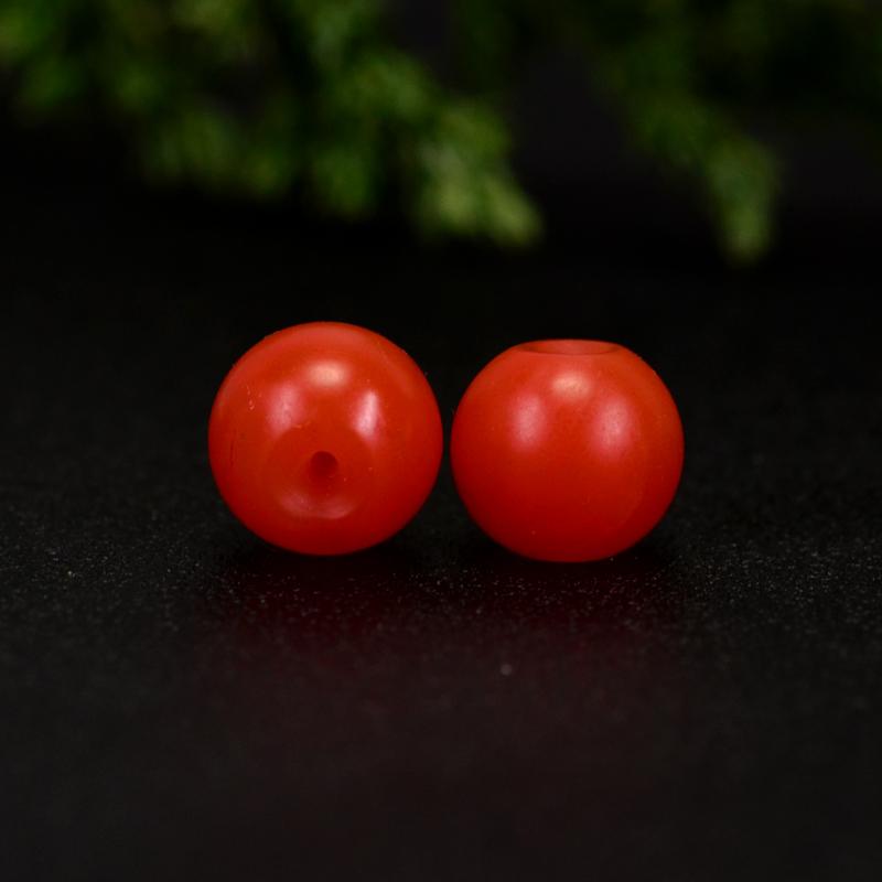 鸿木斋 保山南红散珠 天然柿子红满色满肉 南红腰珠 孤品N3645 (5).JPG