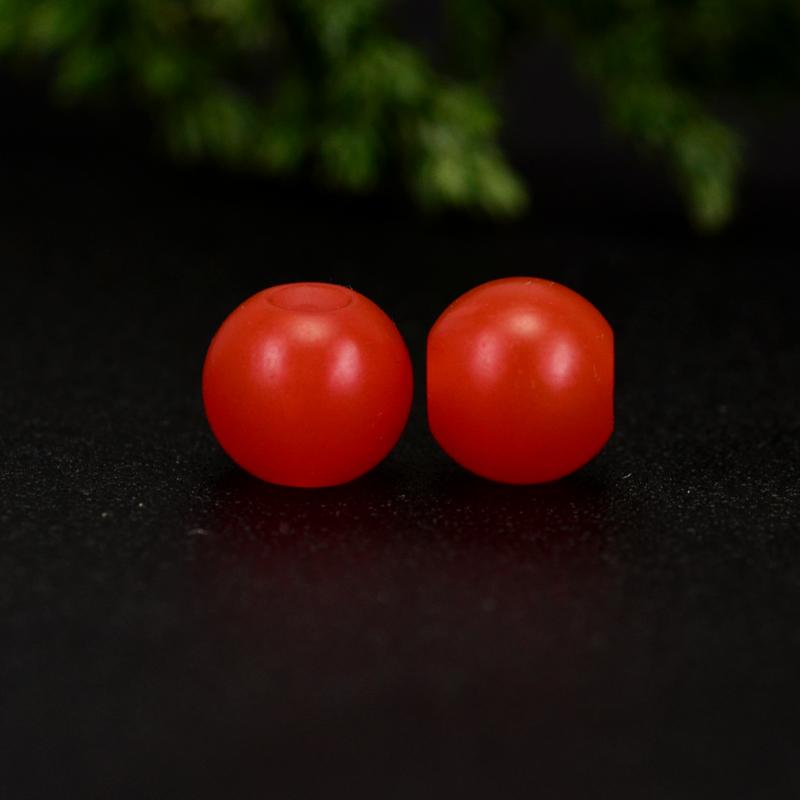 鸿木斋 保山南红散珠 天然柿子红满色满肉 南红腰珠 孤品N3643 (5).JPG