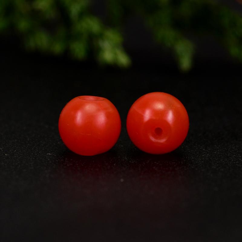 鸿木斋 保山南红散珠 天然柿子红满色满肉 南红腰珠 孤品N3645 (3).JPG