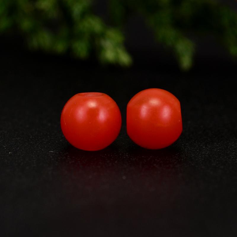 鸿木斋 保山南红散珠 天然柿子红满色满肉 南红腰珠 孤品N3645 (2).JPG