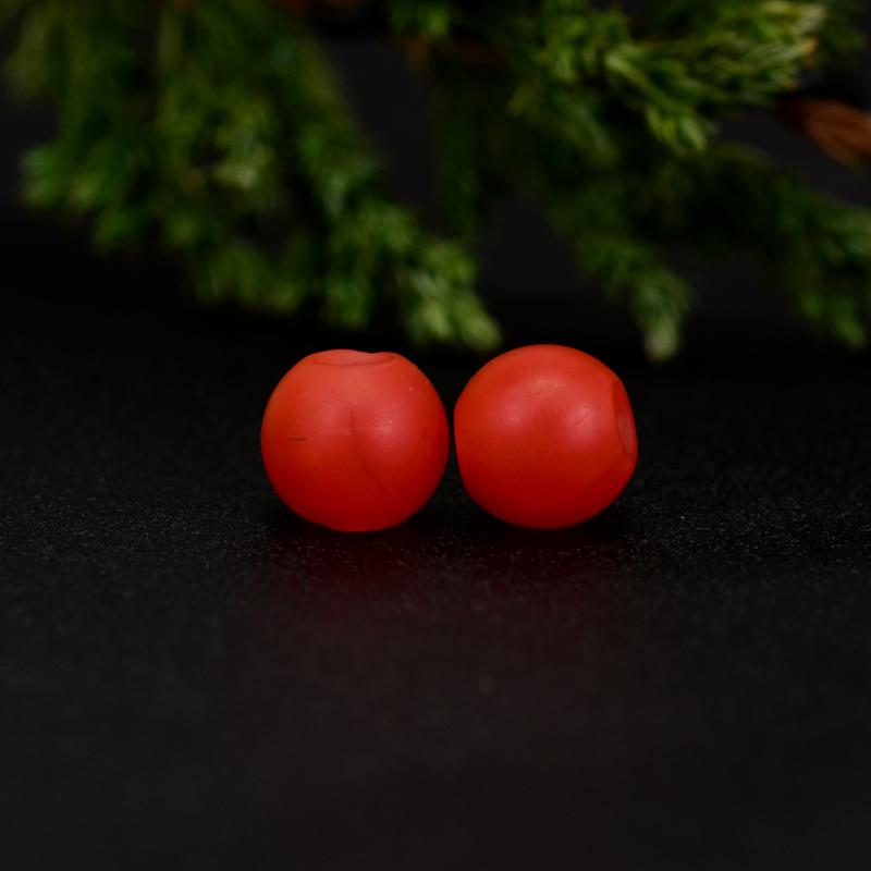 鸿木斋 保山南红散珠 天然柿子红满色满肉 南红腰珠 孤品N3647 (2).JPG