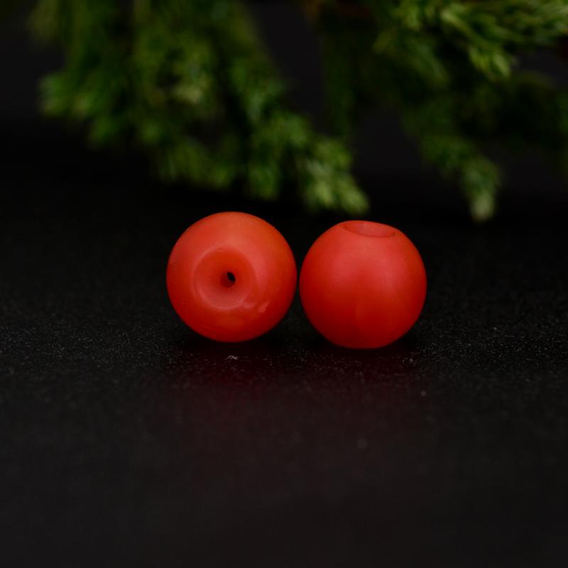 鸿木斋 保山南红散珠 天然柿子红满色满肉 南红腰珠 孤品N3647 (4).JPG