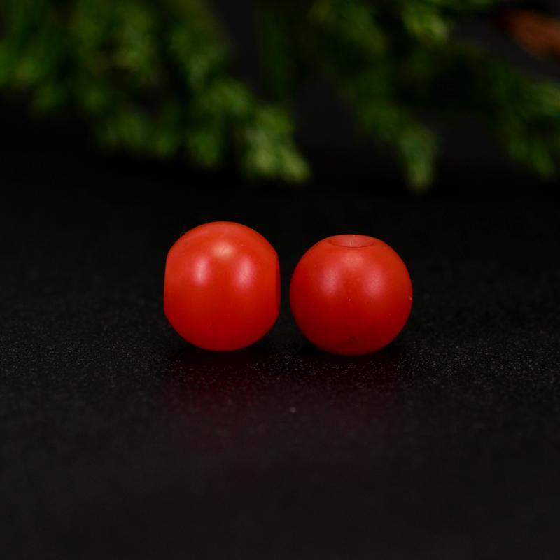 鸿木斋 保山南红散珠 天然柿子红满色满肉 南红腰珠 孤品N3646 (4).JPG