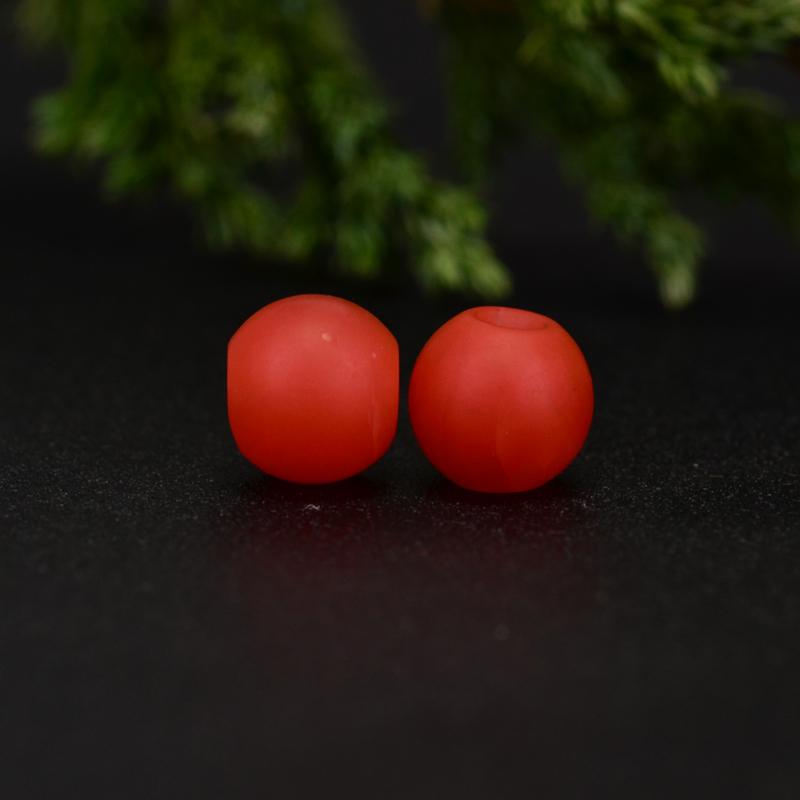 鸿木斋 保山南红散珠 天然柿子红满色满肉 南红腰珠 孤品N3647 (5).JPG