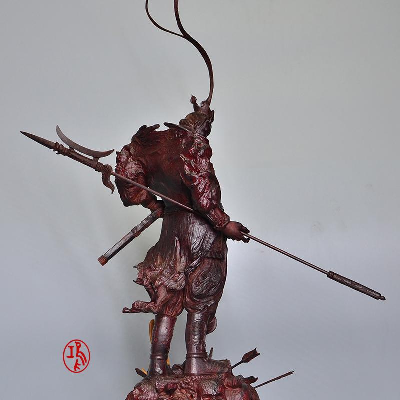 鸿木斋 紫檀大摆件紫檀清刀雕刻吕布孤品Z1561(8).JPG