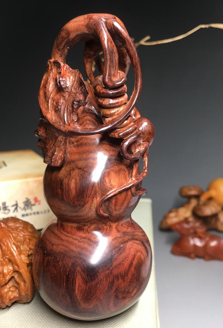 鸿木斋海南黄花梨雕刻葫芦把件HWD005 (4).jpg