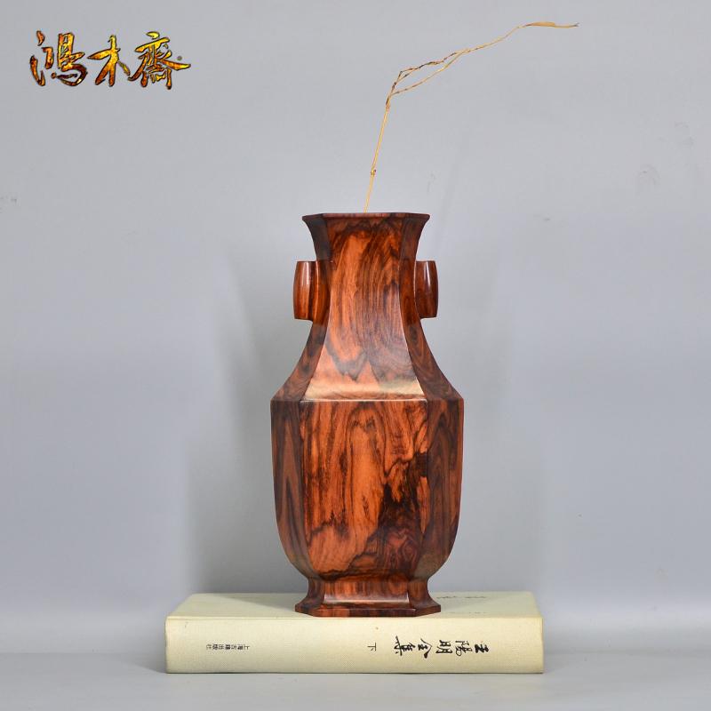 鸿木斋 海南黄花梨大摆件花瓶摆件H7162 (3).JPG