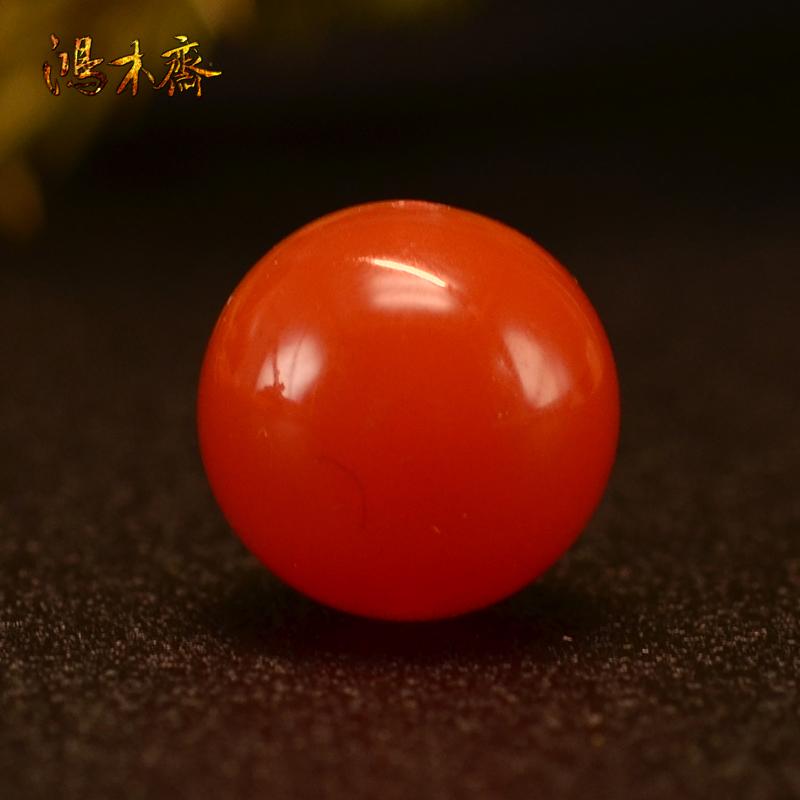 鸿木斋 南红玛瑙单珠天然南红散珠圆珠孤品N3662 (1).JPG