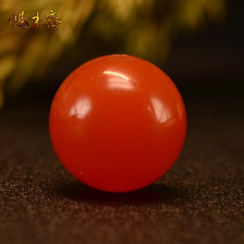 鸿木斋 南红玛瑙单珠天然南红散珠圆珠孤品N3666 (1).JPG
