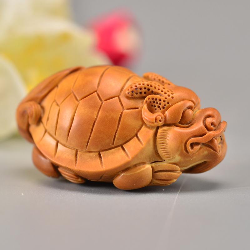 鸿木斋 橄榄核龙龟吊坠单籽大核雕刻把件孤品G280 (1).JPG