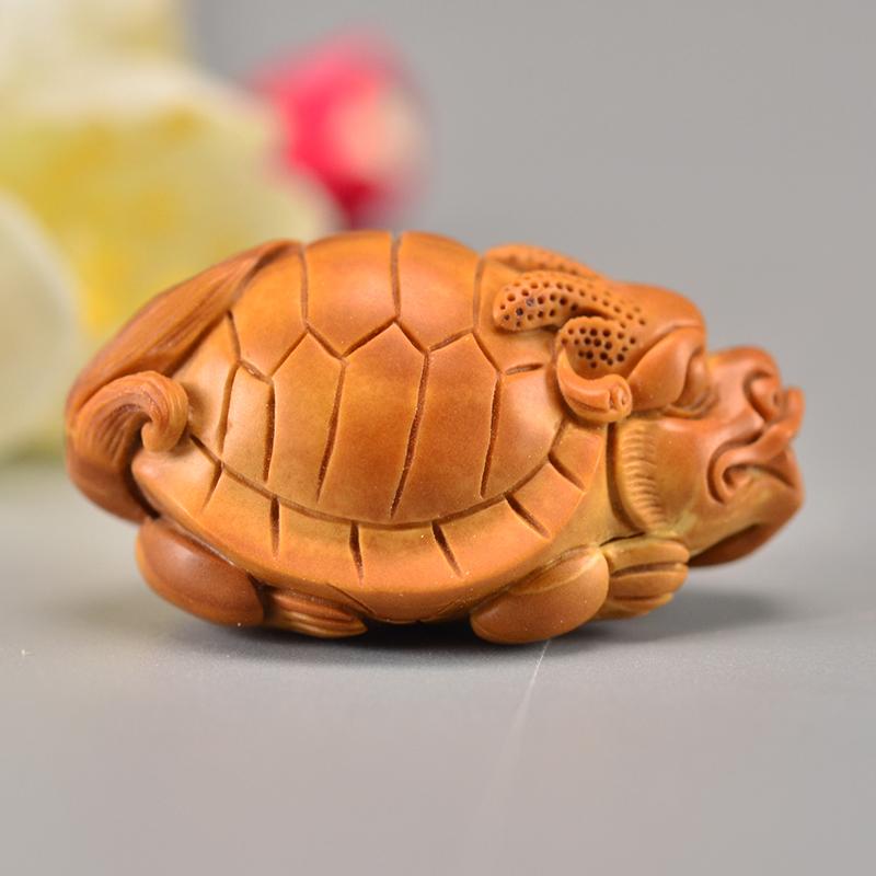 鸿木斋 橄榄核龙龟吊坠单籽大核雕刻把件孤品G280 (2).JPG