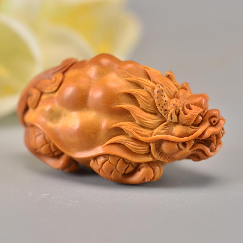 鸿木斋 橄榄核龙龟吊坠单核大籽雕刻把件孤品G282 (1).JPG