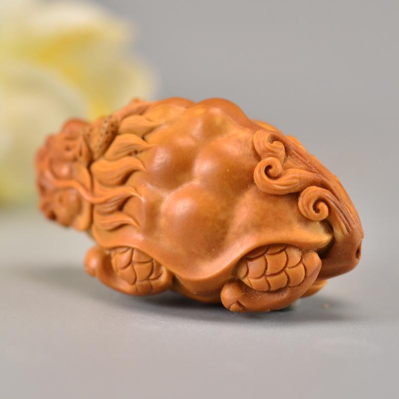 鸿木斋 橄榄核龙龟吊坠单核大籽雕刻把件孤品G282 (3).JPG