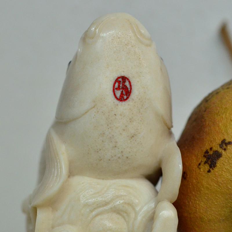 鸿款雕刻鹿角盘《年年有大鱼》艺术把件案头雅玩手作孤品LJ07 (7).JPG