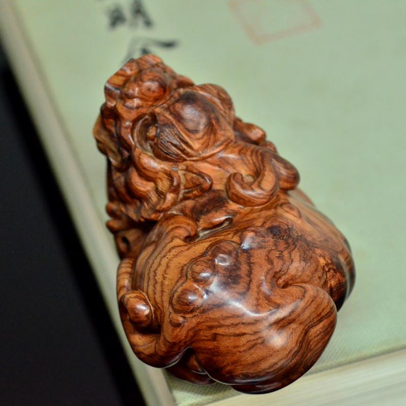 海黄貔貅海南黄花梨老料雕刻把件摆件孤品H7236 (3).JPG
