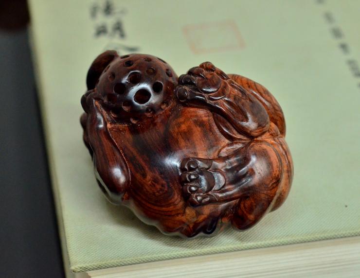 海黄貔貅海南黄花梨老料雕刻把件摆件孤品H7236 (7).JPG