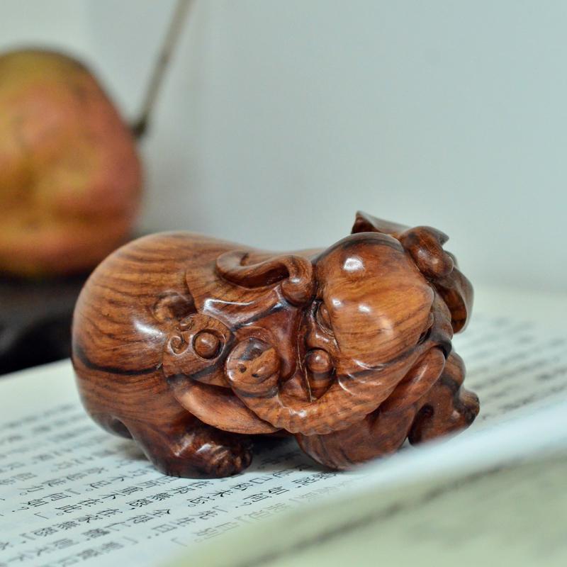 海南黄花梨雕刻把件如意象孤品把件摆件H7238 (4).JPG