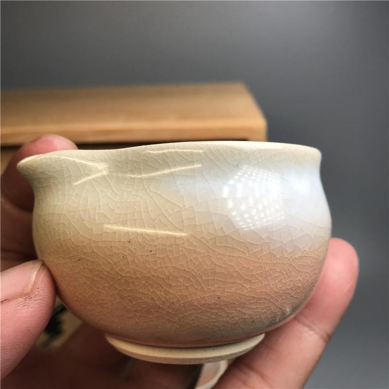 鸿木斋 日式茶具 日本萩烧茶具茶道套装 主人杯 CJ156 (2).jpg