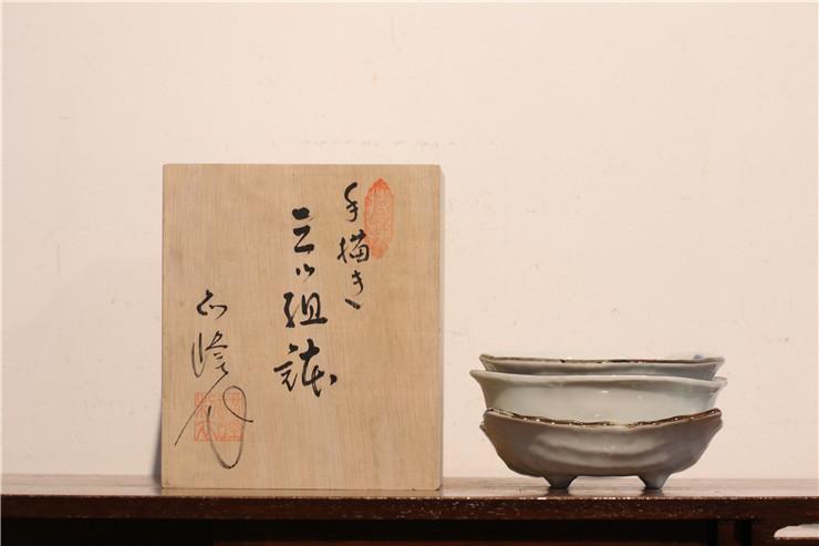 鸿木斋 日式茶具 日本瓷制果子皿套装 孤品CJ159 (5).jpg