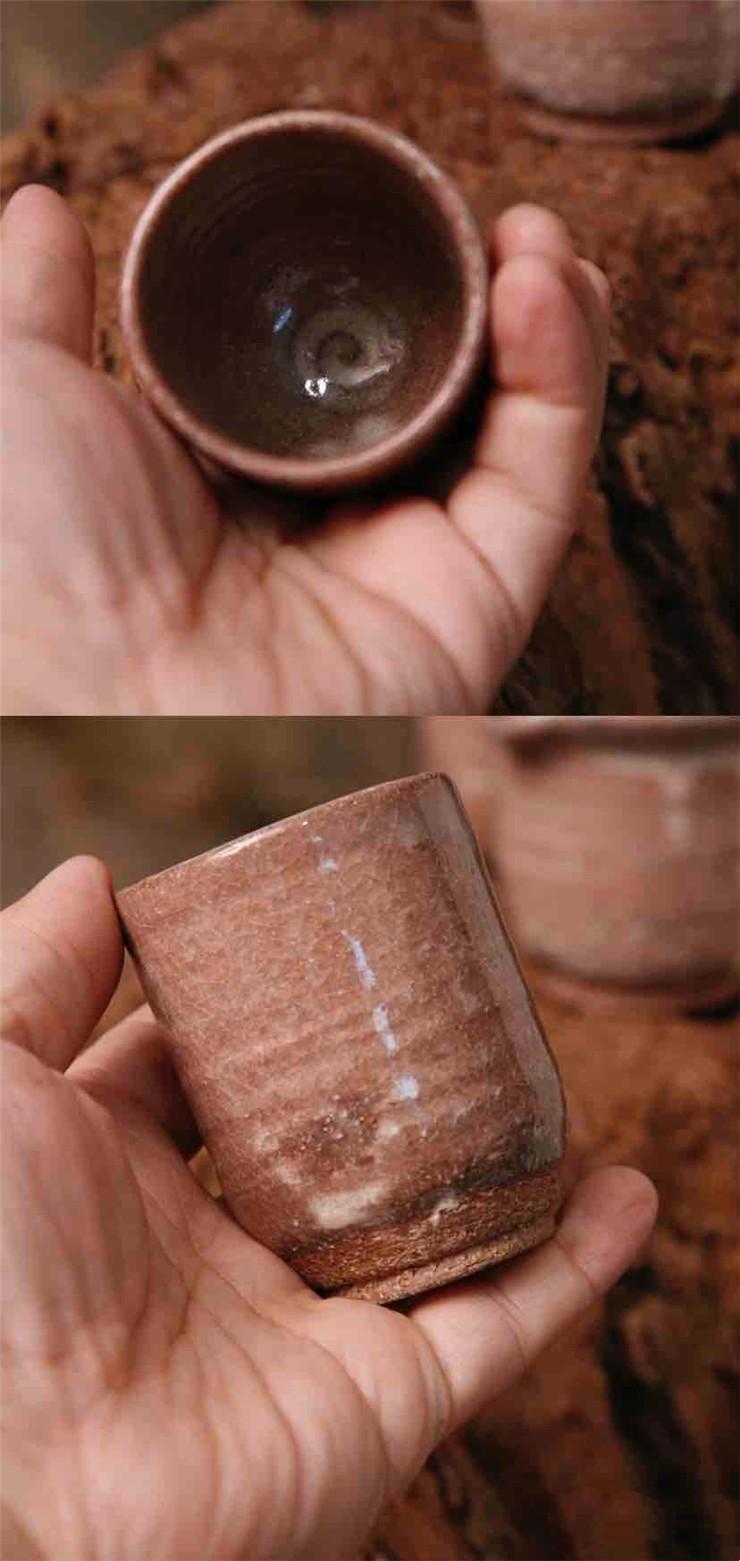鸿木斋 日式茶具 日本回流古朴沧桑荻烧茶具一套 孤品CJ165 (6).jpg
