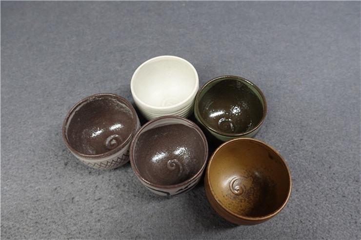 鸿木斋 日式茶具 日本回流 茶道五客茶碗 孤品CJ169 (7).jpg