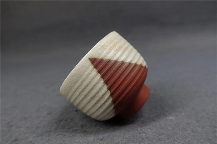 鸿木斋 日式茶具 日本回流 茶道五客茶碗 孤品CJ169 (5).jpg