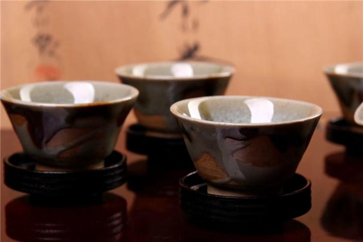 鸿木斋 日式茶具 日本回流昭和时期唐津烧 日本茶道 孤品CJ247 (6).jpg
